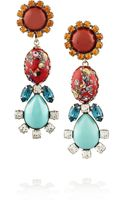 Dannijo Eddie Oxidized Silverplated Swarovski Crystal Earrings - Lyst