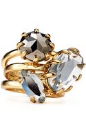 Rebecca Minkoff Starry Rings Set Of Three - Lyst