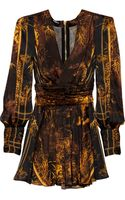 Balmain Printed Silk Mini Dress - Lyst