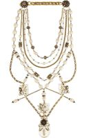 Erickson Beamon Ballroom Dancing Goldplated Faux Pearl and Swarovski Crystal Necklace - Lyst