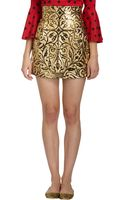 Dolce & Gabbana Vineembossed Mini Skirt - Lyst