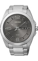 Seiko Mens Solar Stainless Steel Bracelet Watch 45mm Sne273 - Lyst