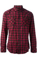 Diesel Plaid Shirt - Lyst