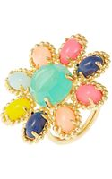 Kate Spade Multicolored Flower Ring - Lyst