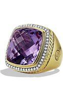 David Yurman Albion Ring with Diamonds in Gold 20mm Gemstone - Lyst