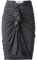 Etoile Isabel Marant Gathered Pencil Skirt - Lyst
