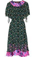Duro Olowu Silk Satin-Trimmed Floral-Print Crepe Dress - Lyst