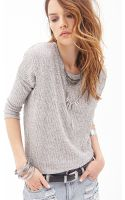 Forever 21 Marled Knit Dolman Sweater - Lyst