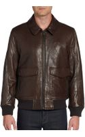 Andrew Marc Shearlingcollar Leather Bomber Jacket - Lyst