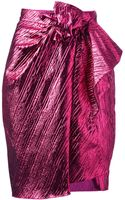 Lanvin Gathered Detail Pencil Skirt - Lyst