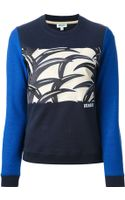 Kenzo Palm Leaf Print Sweatshirt - Lyst