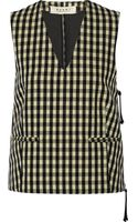 Marni Checked Woven Vest - Lyst