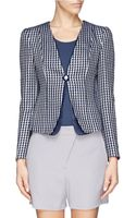 Armani Jacquard Woven Layer Jacket - Lyst
