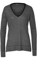 Vince Wool-cashmere Striped Pullover - Lyst