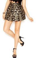 Guess Butterflyprint Bandage Mini Skirt - Lyst