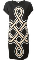 Diane Von Furstenberg Printed T-Shirt Dress - Lyst