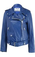 Acne Studios Mape Belted Leather Biker Jacket - Lyst