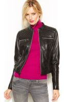 Marc New York Grace Quilted Leather Motorcycle Jacket - Lyst