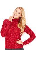 Kensie Long-sleeve Marled-knit Turtleneck Sweater - Lyst