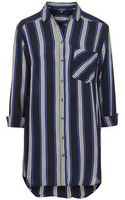 Topshop Stripe Oversized Shirt - Lyst