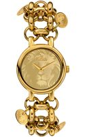 Versus  Watch Womens Agadir Gold Ionplated Charm Bracelet 36mm Sgo04 - Lyst