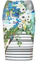 Clover Canyon Printed Neoprene Skirt - Lyst