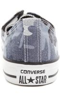 Converse All Star Low Camo Canvas Blue Sneakers - Lyst