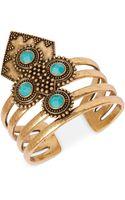 Lucky Brand Goldtone Drama Cuff Bracelet - Lyst