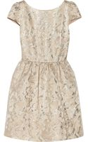 Alice + Olivia Nelly Metallic Jacquard Dress - Lyst
