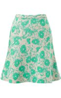 Whistles Pansy Print Fit Flare Skirt - Lyst