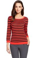 Hugo Boss Virgin Wool Striped Sweater - Lyst