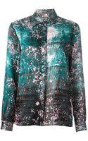 MSGM Printed Shirt - Lyst