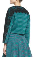 M Missoni Space Dye Lace-detail Double-knit Jacket - Lyst