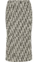 Rochas Woolblend Tweed Midi Skirt - Lyst