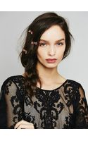 Free People 3 Pack Mini Rose Hair Clips - Lyst