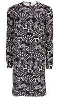 Matthew Williamson Monostar Print Silk Shift Dress - Lyst