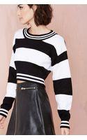 Nasty Gal Parallel Crop Sweater - Lyst