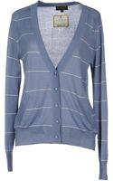 Le Mont St Michel Striped Pastel Blue Cardigan - Lyst