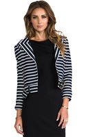 Rachel Zoe Brando Jacket in Navy - Lyst