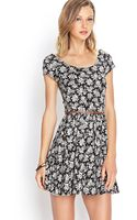 Forever 21 Rose Fit Flare Dress - Lyst