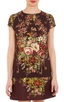 Dolce & Gabbana Floral-print Cap Sleeve Top - Lyst