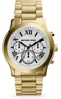 Michael Kors Cooper Goldtone Stainless Steel Chronograph Bracelet Watch - Lyst