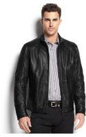 Hugo Boss Boss Niksons Leather Jacket - Lyst