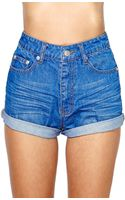 Nasty Gal Off The Cuff Denim Short - Lyst