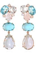 Bounkit Blue Quartz Clear Quartz and Moonstone Earrings - Lyst