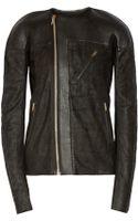Rick Owens Leather Biker Jacket - Lyst