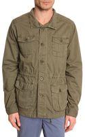 Harris Wilson Khaki Buttoned Safari Jacket - Lyst