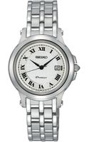 Seiko Womens Premier Stainless Steel Bracelet Watch 28mm Sxde01 - Lyst