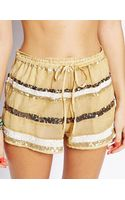 Asos Sequin Embellished Beach Shorts - Lyst