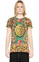 Versus  Printed Cotton Jersey Tshirt - Lyst